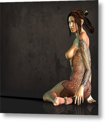 Tattooed Nude Metal Print