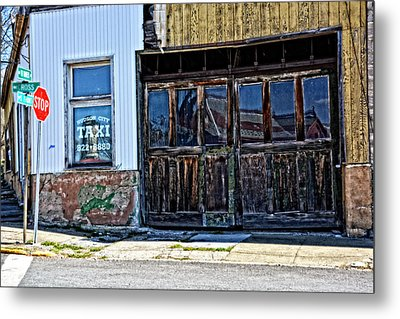 Taxi Stand Metal Print by Mike Martin