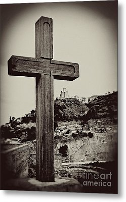 Tbilisi Cross Metal Print by Emily Kay