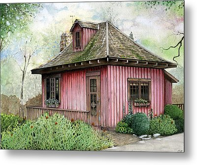 T.c. Steele Cottage Metal Print by John Christopher Bradley