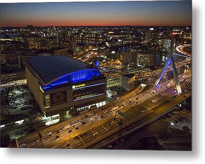 Td Garden At Night. Metal Print by Dave Cleaveland