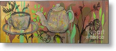 Tea Blossoms Metal Print by Robin Maria Pedrero