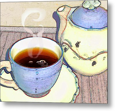 Tea For One Metal Print by Ginny Schmidt