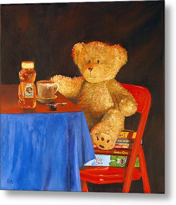 Tea For Teddy Metal Print