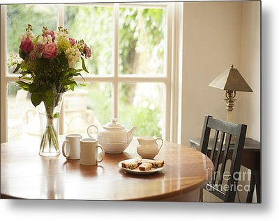 Tea For Two Metal Print by Anne Gilbert