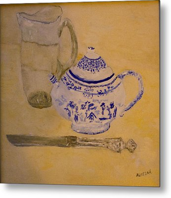 Tea Kettle Metal Print by Aleezah Selinger