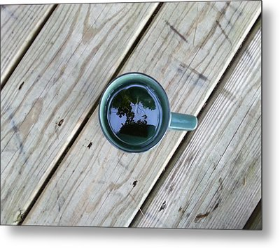 Tea Leaves Metal Print