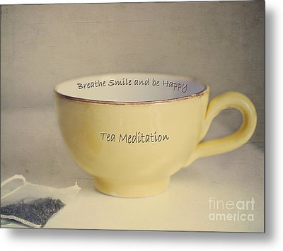 Tea Meditation Metal Print