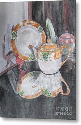 Tea Pot Metal Print by Laurianna Taylor