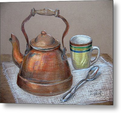 Tea Pot Metal Print by Patricia Januszkiewicz
