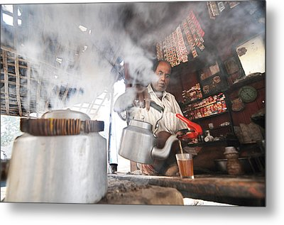 Tea Seller Metal Print by Money Sharma