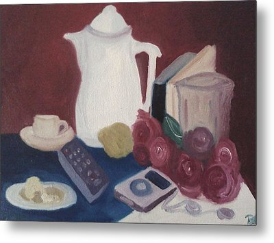 Metal Print featuring the painting Tea Time by Darlene Berger