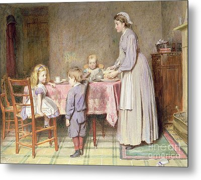 Tea Time Metal Print by George Goodwin Kilburne
