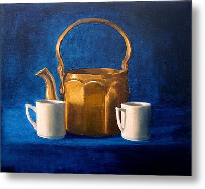 Metal Print featuring the painting Tea Time by Janet King