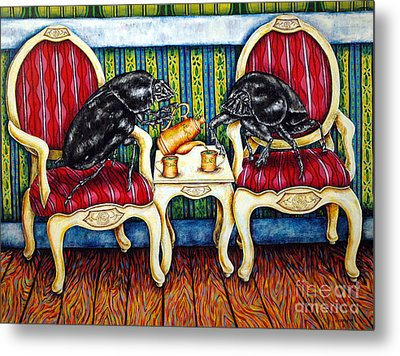 Tea Time Metal Print by Jay  Schmetz