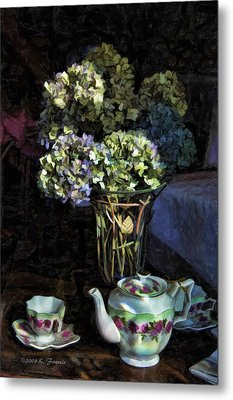 Metal Print featuring the photograph Tea Time by Kenny Francis