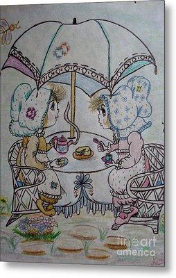Tea Time Metal Print by Lori  Lovetere