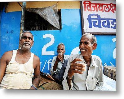 Tea Time Metal Print by Money Sharma