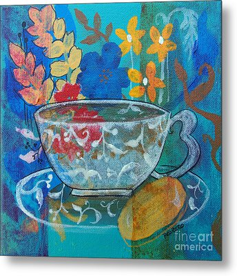 Tea With Biscuit Metal Print by Robin Maria Pedrero