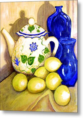 Tea With Lemon Metal Print by Robin Mead