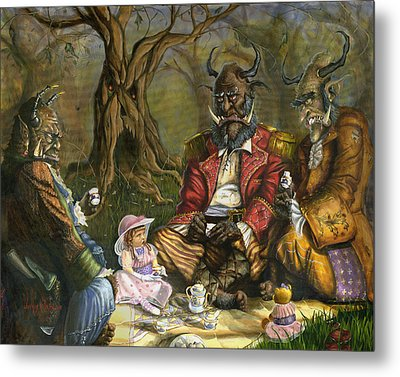 Tea With The Ogres Metal Print by Jeff Brimley
