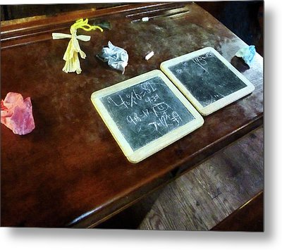 Teacher - School Slates Metal Print by Susan Savad