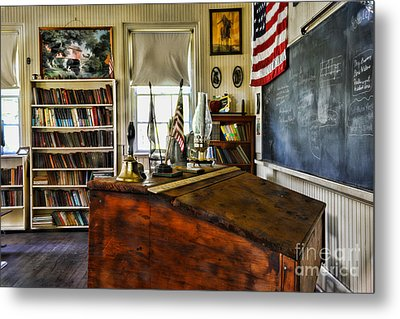 Teacher - Vintage Desk Metal Print
