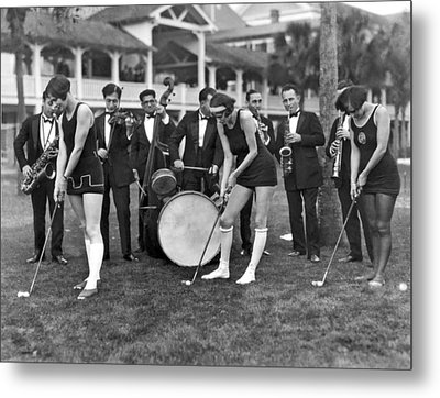 Teaching Golf With Jazz Metal Print by Underwood Archives