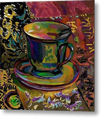 Metal Print featuring the digital art Teacup Study 1 by Clyde Semler