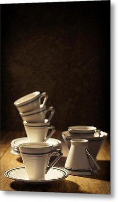 Teacups Metal Print by Amanda Elwell