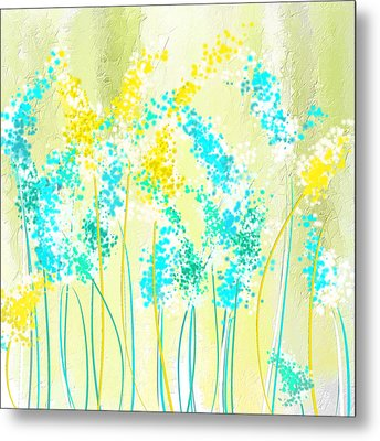Teal And Graces Metal Print by Lourry Legarde