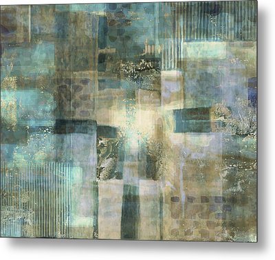 Teal Luminous Layers Metal Print by Lee Ann Asch