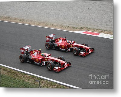 Team Ferrari Metal Print by David Grant