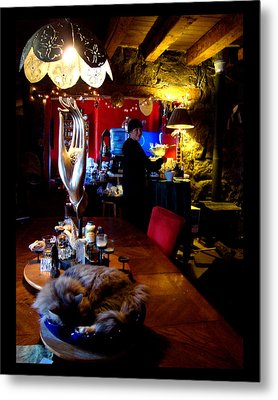 Metal Print featuring the photograph Teatime In The Lodge by Susanne Still