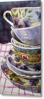 Teatime Metal Print by Marisa Gabetta