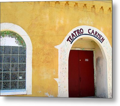 Metal Print featuring the photograph Teatro Carmen by Brenda Pressnall