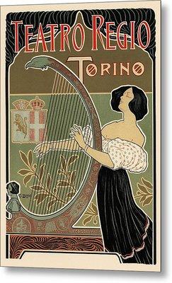 Teatro Regio Torino Metal Print by Gianfranco Weiss