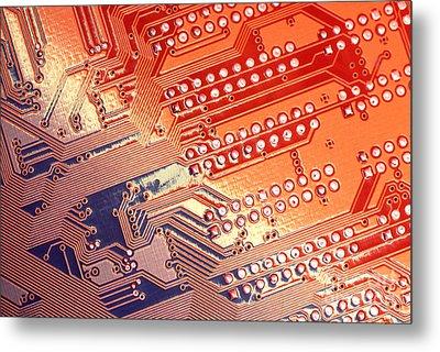 Tech Abstract Metal Print by Tony Cordoza