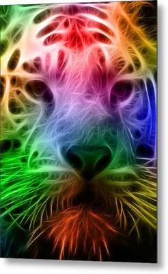 Techicolor Tiger Metal Print by Ricky Barnard