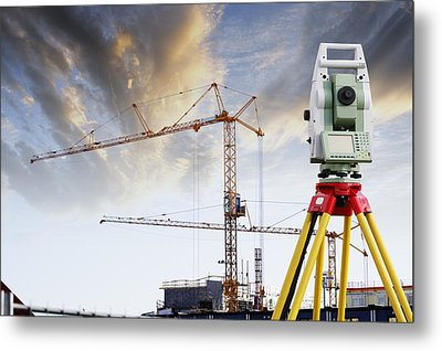 Technology And Construction Metal Print by Christian Lagereek