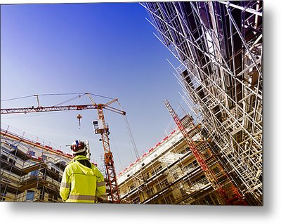 Technology And Construction Instrument Metal Print by Christian Lagereek