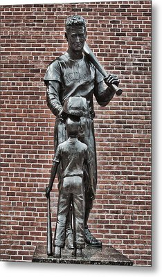 Ted Williams Statue - Boston Metal Print