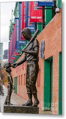 Metal Print featuring the photograph Teddy Ballgame by Mike Ste Marie
