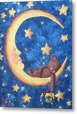 Teddy Bear Dreams Metal Print
