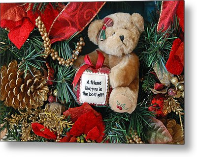 Teddy Bear Friends Metal Print