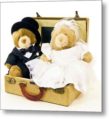 Teddy Bear Honeymoon Metal Print