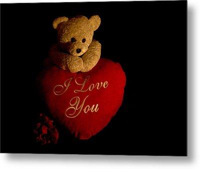 Teddy Bear Love 2 Metal Print by Regina  Williams