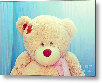 Metal Print featuring the photograph Teddy Bear by Mohamed Elkhamisy