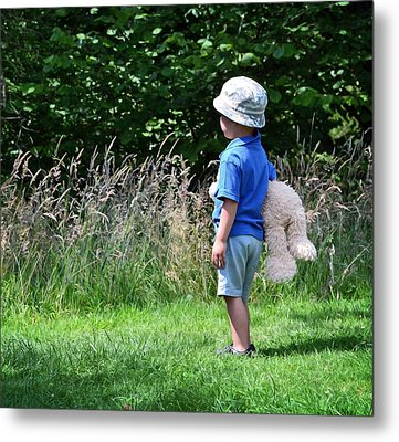 Metal Print featuring the photograph Teddy Bear Walk by Keith Armstrong