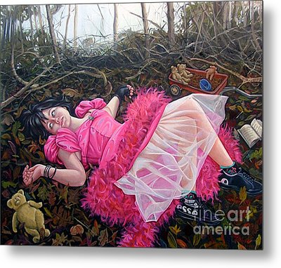 Teddy Bears Picnic Metal Print by Shelley Laffal